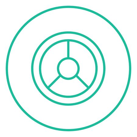 Steering wheel thick line icon with pointed corners and edges for web, mobile and infographics. Vector isolated icon. Illustration