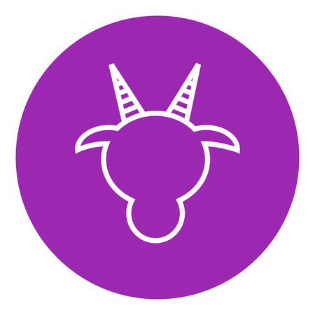 goat head: Goat head thick line icon with pointed corners and edges for web, mobile and infographics. Vector isolated icon. Illustration