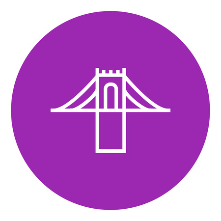 Bridge thick line icon with pointed corners and edges for web, mobile and infographics. Vector isolated icon. Illusztráció