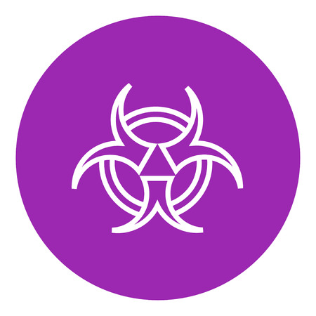 bio hazard: Bio hazard sign thick line icon with pointed corners and edges for web, mobile and infographics. Vector isolated icon.
