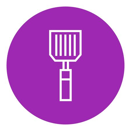 Kitchen spatula thick line icon with pointed corners and edges for web, mobile and infographics. Vector isolated icon. 向量圖像