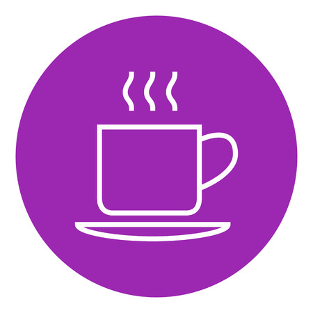 teaparty: Cup of hot drink thick line icon with pointed corners and edges for web, mobile and infographics. Vector isolated icon.