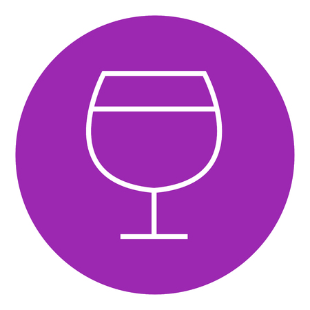 Glass of wine thick line icon with pointed corners and edges for web, mobile and infographics. Vector isolated icon. Illustration
