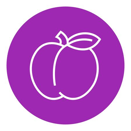 ripened: Apple thick line icon with pointed corners and edges for web, mobile and infographics. Vector isolated icon.