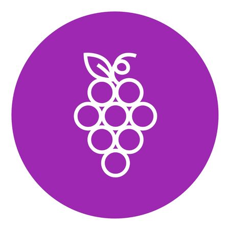 viticulture: Bunch of grapes thick line icon with pointed corners and edges for web, mobile and infographics. Vector isolated icon. Illustration