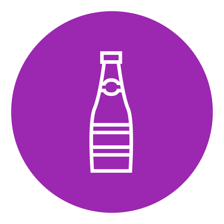Glass bottle thick line icon with pointed corners and edges for web, mobile and infographics. Vector isolated icon. Illustration