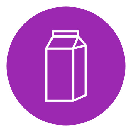 Packaged dairy product thick line icon with pointed corners and edges for web, mobile and infographics. Vector isolated icon.