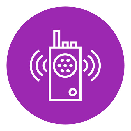Radio set thick line icon with pointed corners and edges for web, mobile and infographics. Vector isolated icon. Illusztráció