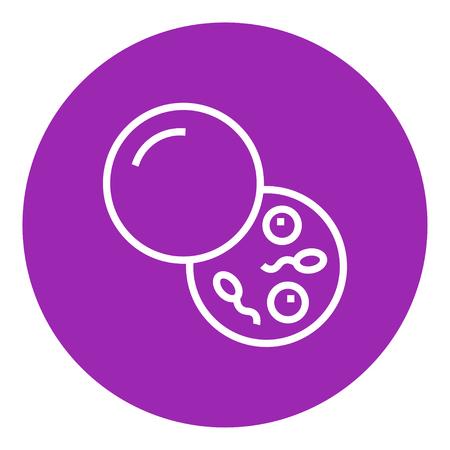 Donorsperma dikke lijn icoon met puntige hoeken en randen voor het web, mobiel en infographics. Vector geïsoleerde pictogram. Stock Illustratie