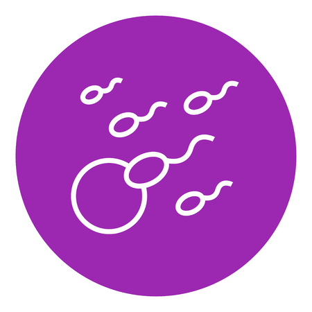conjugation: Fertilization thick line icon with pointed corners and edges for web, mobile and infographics. Vector isolated icon.