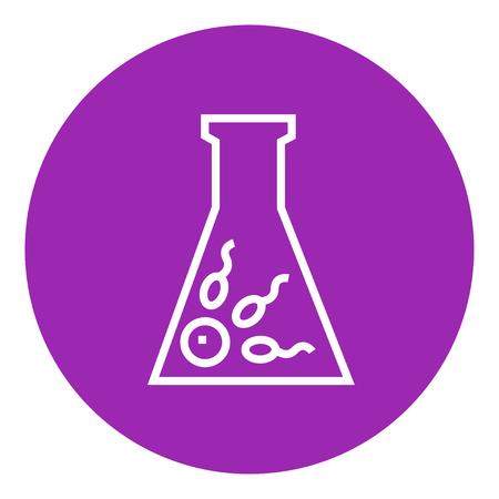 in vitro: La fertilización in vitro icono de línea gruesa con esquinas puntiagudas y bordes para web, móvil y la infografía. aislado vector icono. Vectores
