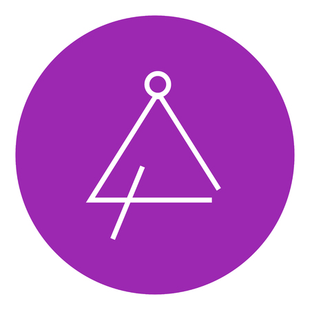 struck: Triangle thick line icon with pointed corners and edges for web, mobile and infographics. Vector isolated icon. Illustration