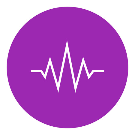 Sound wave thick line icon with pointed corners and edges for web, mobile and infographics. Vector isolated icon. 向量圖像