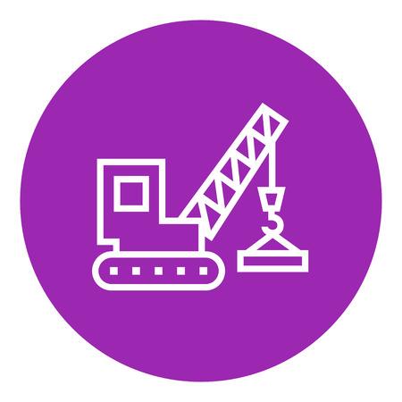 Hijskraan dikke lijn icoon met puntige hoeken en randen voor web, mobiel en infographics. Vector geïsoleerd pictogram. Stock Illustratie