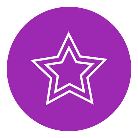 good judgment: Rating star thick line icon with pointed corners and edges for web, mobile and infographics. Vector isolated icon.