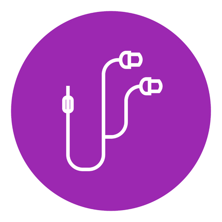 Earphone thick line icon with pointed corners and edges for web, mobile and infographics. Vector isolated icon. Illustration