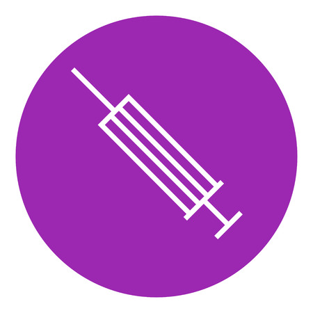 Syringe thick line icon with pointed corners and edges for web, mobile and infographics. Vector isolated icon. Stock Vector - 55249270