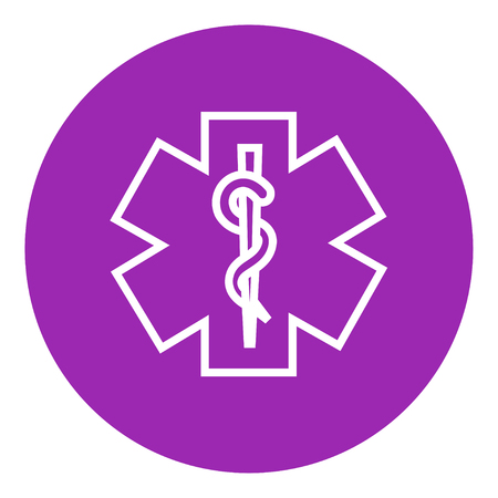 minimal: Medical symbol thick line icon with pointed corners and edges for web, mobile and infographics. Vector isolated icon.