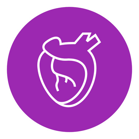 aortic bodies: Heart thick line icon with pointed corners and edges for web, mobile and infographics. Vector isolated icon. Illustration