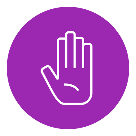 surgical glove: Medical glove thick line icon with pointed corners and edges for web, mobile and infographics. Vector isolated icon. Illustration