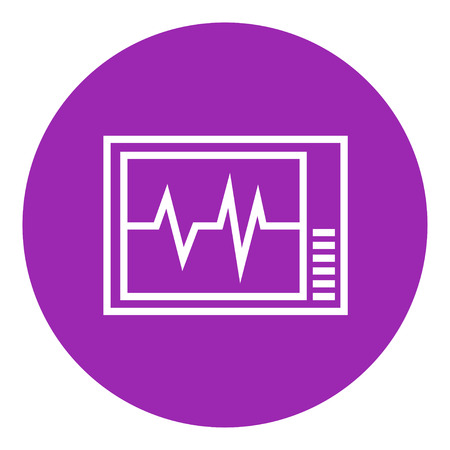heart monitor: Heart monitor thick line icon with pointed corners and edges for web, mobile and infographics. Vector isolated icon.