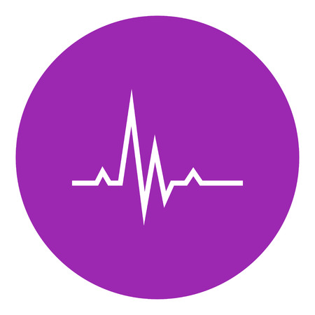 heart monitor: Hheart beat cardiogram thick line icon with pointed corners and edges for web, mobile and infographics. Vector isolated icon.