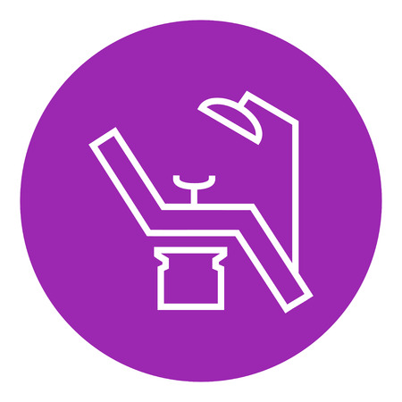 dental chair: Dental chair thick line icon with pointed corners and edges for web, mobile and infographics. Vector isolated icon. Illustration