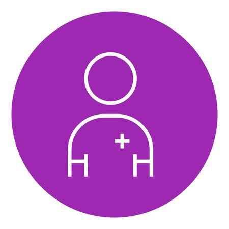 Nurse thick line icon with pointed corners and edges for web, mobile and infographics. Vector isolated icon.