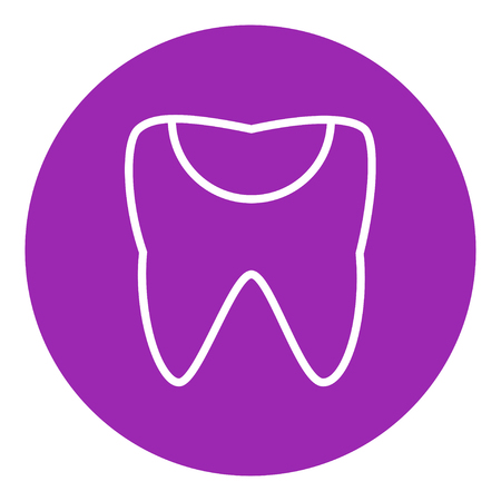 crumbling: Tooth decay thick line icon with pointed corners and edges for web, mobile and infographics. Vector isolated icon.