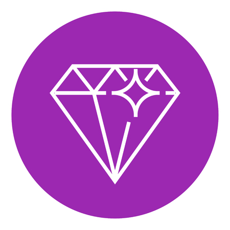 bijou: Diamond thick line icon with pointed corners and edges for web, mobile and infographics. Vector isolated icon. Illustration