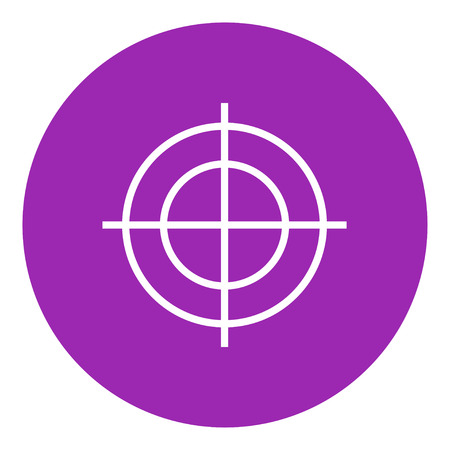 Shooting target thick line icon with pointed corners and edges for web, mobile and infographics. Vector isolated icon.