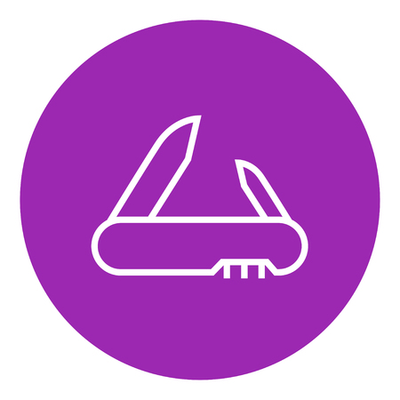 foldable: Jackknife thick line icon with pointed corners and edges for web, mobile and infographics. Vector isolated icon.