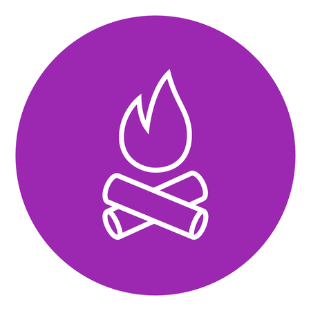 Campfire thick line icon with pointed corners and edges for web, mobile and infographics. Vector isolated icon. Vettoriali