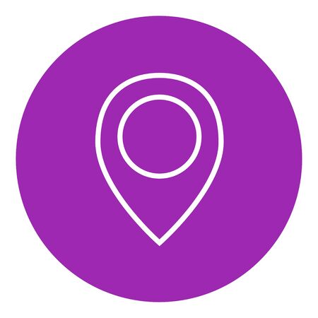 Map pointer thick line icon with pointed corners and edges for web, mobile and infographics. Vector isolated icon.