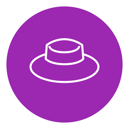 Summer hat thick line icon with pointed corners and edges for web, mobile and infographics. Vector isolated icon. Illusztráció