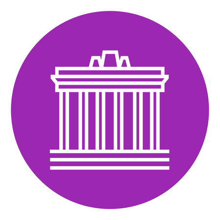 Acropolis of Athens thick line icon with pointed corners and edges for web, mobile and infographics. Vector isolated icon. Illusztráció