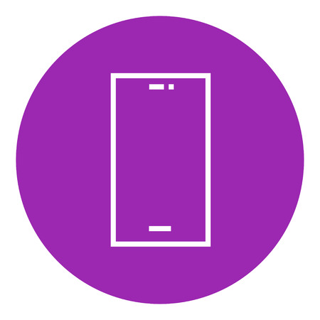 lcd display: Mobile phone thick line icon with pointed corners and edges for web, mobile and infographics. Vector isolated icon.