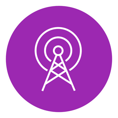 Antenna thick line icon with pointed corners and edges for web, mobile and infographics. Vector isolated icon. Illustration