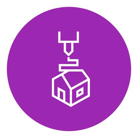 Impression D Arbre icône de ligne épaisse avec des coins pointus et des bords pour le web, le mobile et infographies. Vector icône isolé. Banque d'images - 55257134