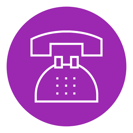 Telephone thick line icon with pointed corners and edges for web, mobile and infographics. Vector isolated icon.