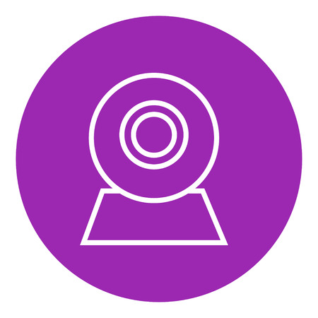 Web camera thick line icon with pointed corners and edges for web, mobile and infographics. Vector isolated icon.