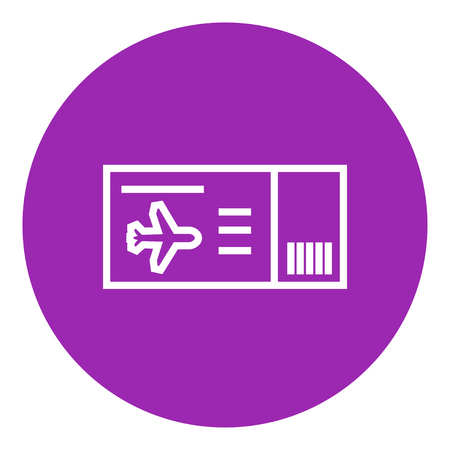 Flight ticket thick line icon with pointed corners and edges for web, mobile and infographics. Vector isolated icon.