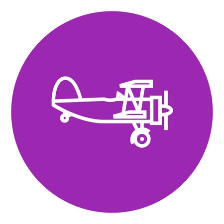 Aereo di elica icona linea spessa con spigoli appuntiti e bordi per il web, mobile e infografica. Vettore isolato icona. Archivio Fotografico - 55257325