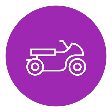 motorsports: Motorcycle thick line icon with pointed corners and edges for web, mobile and infographics. Vector isolated icon.