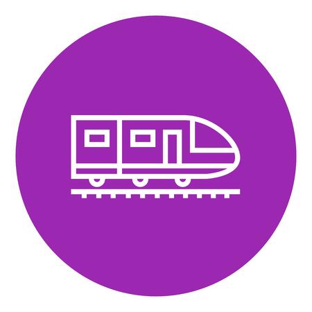 現代の高速鉄道尖った角と web、モバイル エッジ インフォ グラフィックと太い線のアイコンがあります。ベクトル分離アイコン。  イラスト・ベクター素材