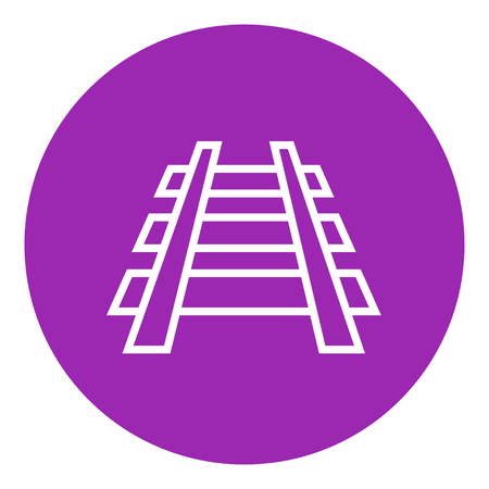 hand rails: Railway track thick line icon with pointed corners and edges for web, mobile and infographics. Vector isolated icon. Illustration
