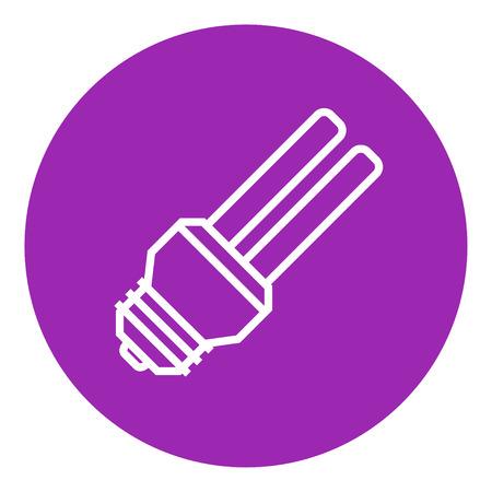 bombillo ahorrador: El ahorro de energ�a icono de l�nea gruesa bombilla con esquinas puntiagudas y bordes para web, m�vil y la infograf�a. aislado vector icono.