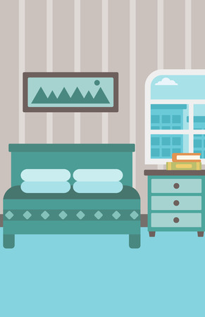 Background Of Bedroom Vector Flat Design Illustration Vertical