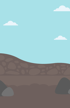 Background of heaps of coal vector flat design illustration. Vertical layout.