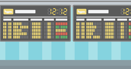スケジュール ボード ベクトル フラット デザイン イラストの背景。水平方向のレイアウト。